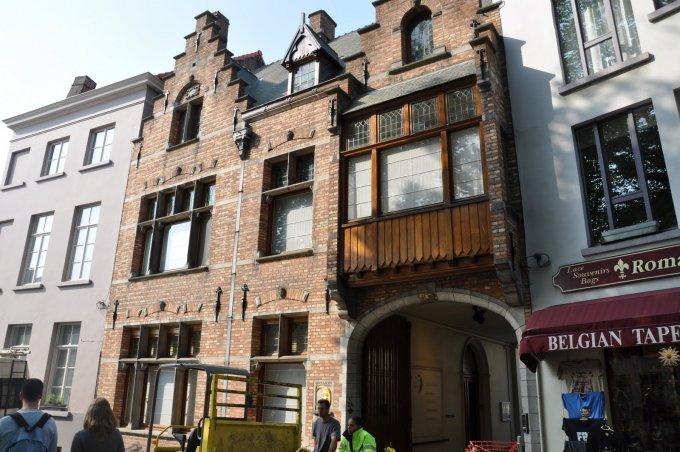 L'entrata del birrificio De Halve Maan a Bruges