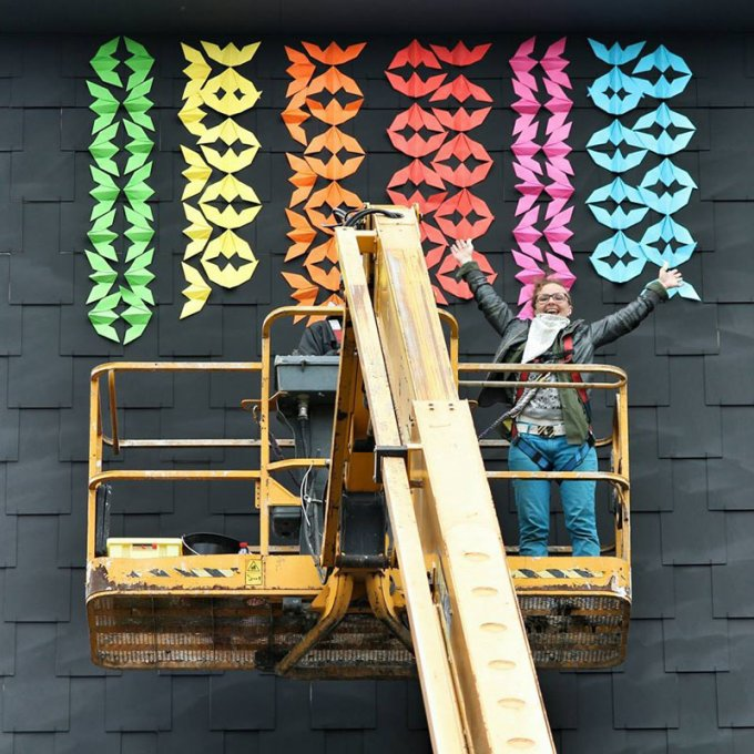 Gli origami murales a Parigi