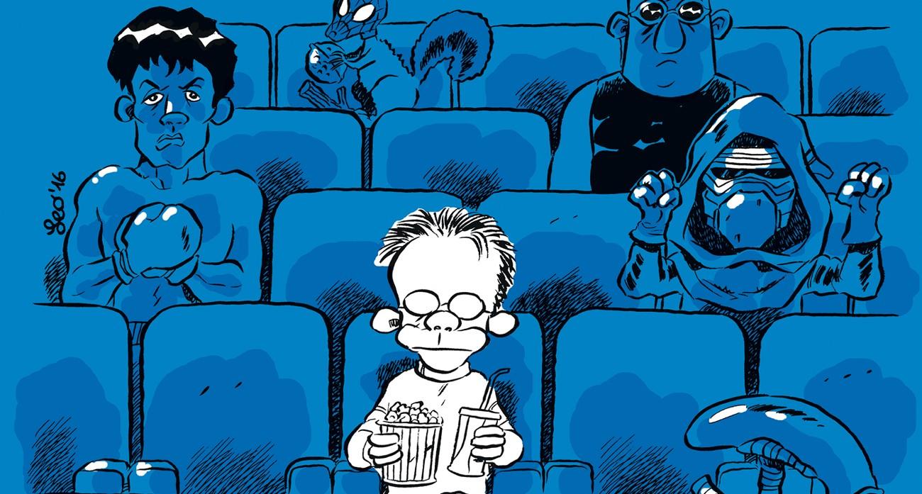 libro recensioni film fumetti leo ortolani Un dettaglio della copertina di Buio in sala, di Leo Ortolani