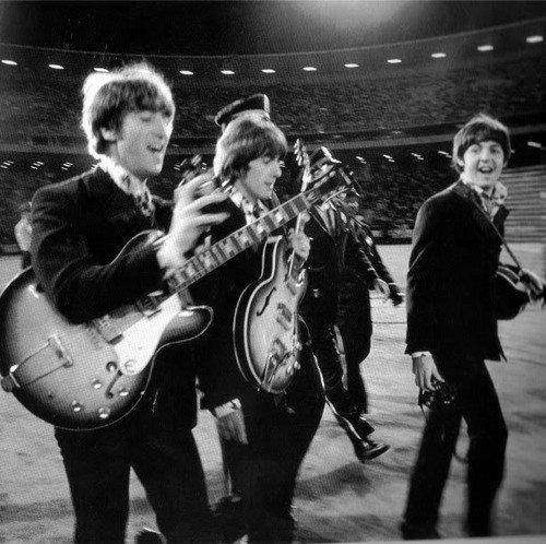 I Beatles salgono sul palco per il loro ultimo live