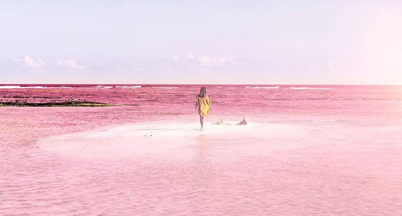 La laguna dall'acqua rosa di Las Coloradas in Messico fa impazzire Instagram