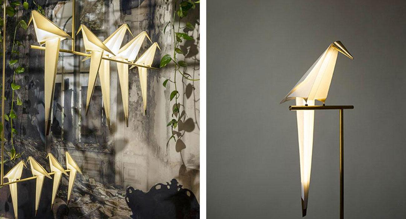 Queste lampade origami che sembrano un uccellino sono spettacolari