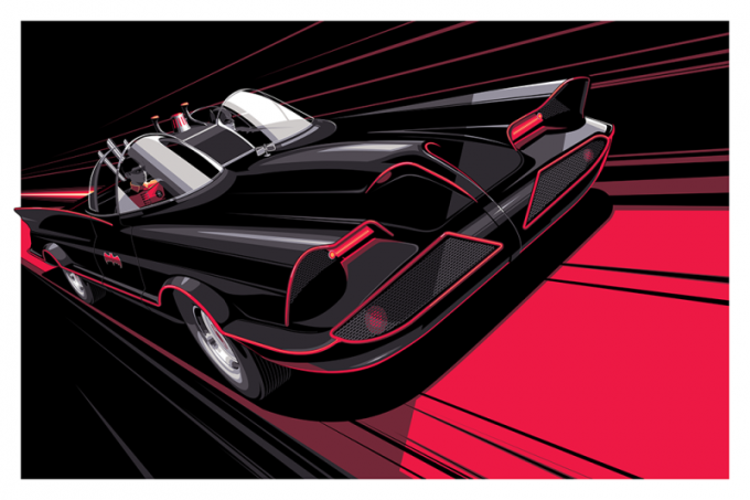 Batman illustrazioni film craig drake