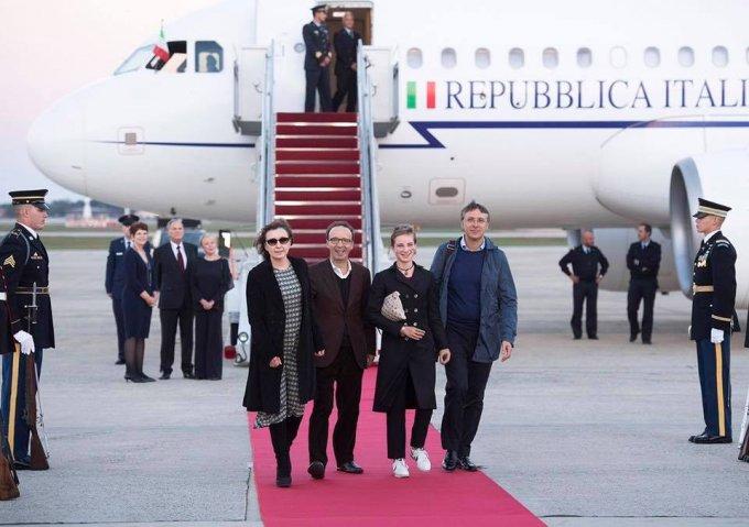 L'arrivo a Washington di Bebe Vio e Roberto Benigni (Foto Ambasciata Italiana)