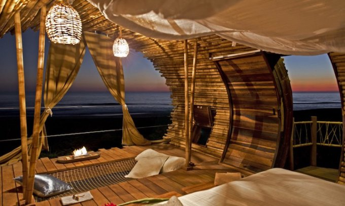 La casa di bambù in Messico
