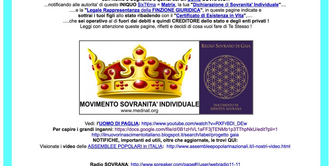 dichiarazione sovranità individuale bufala