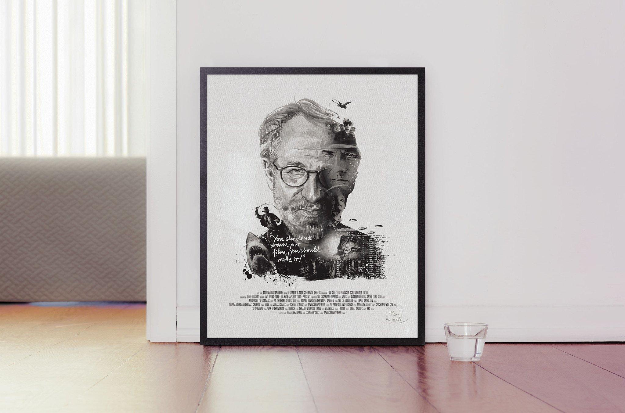 Il regista americano nel bellissimo ritratto dell'illustratore Julian Rentzsch
