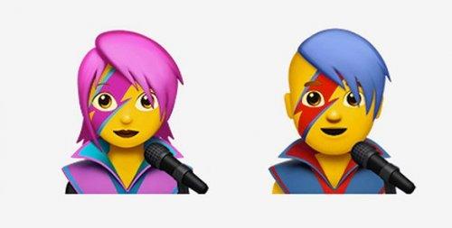 nuove emoji ios david bowie