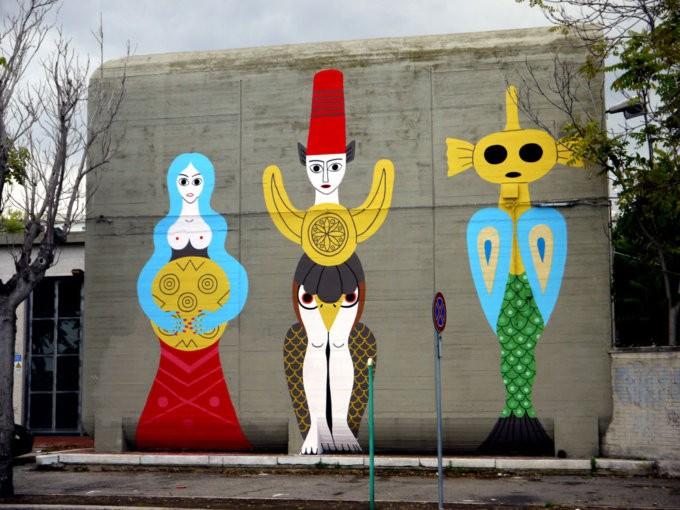 Dem street artist intervista dem-street-artist-maschere-disegni-murales9