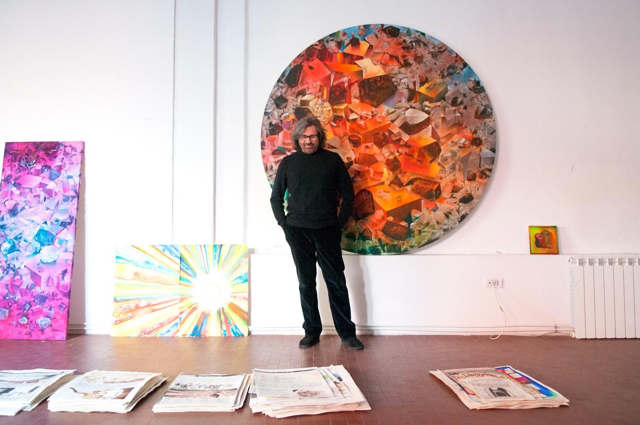 Marcello Jori nel suo studio milanese