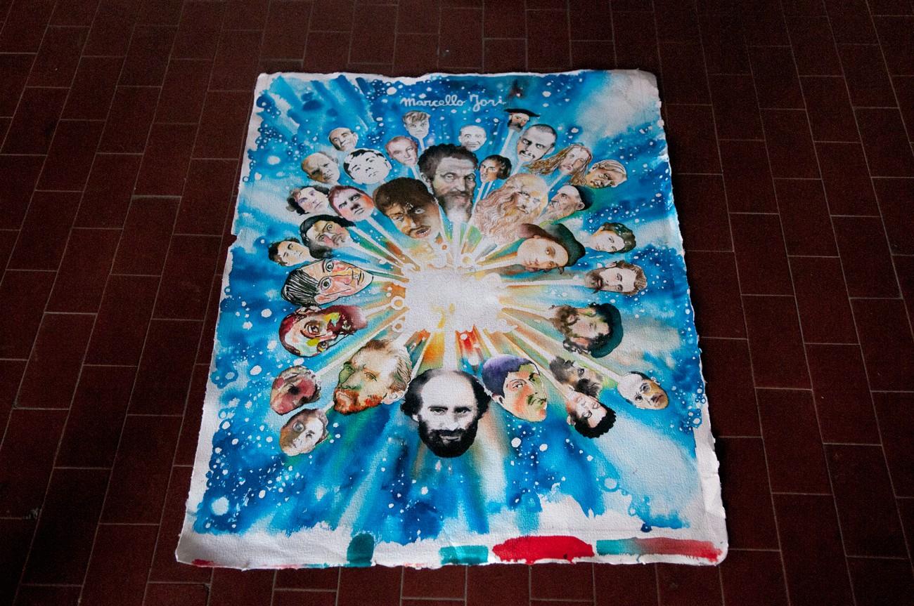 Un tavola poi non utilizzata per la copertina de La storia dipinta dell'arte