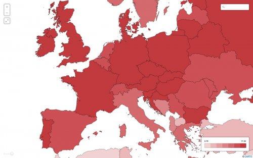 mappa alcol europa