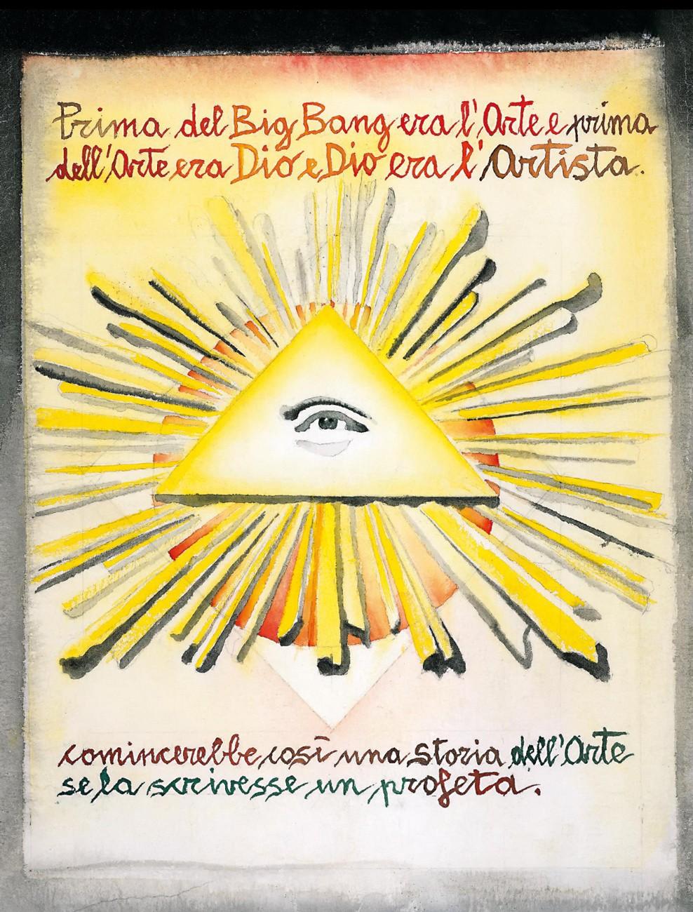 La pagina con cui si apre La storia dipinta dell'arte di Marcello Jori