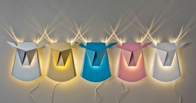 Popup Lighing, le lampade che diventano animali lampade animali origami