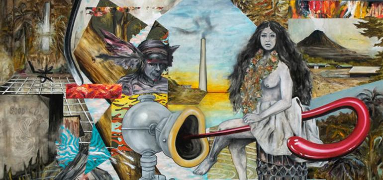 Sull'orlo dell'incoerenza o del collasso: i quadri punk di Marco Dal Bo
