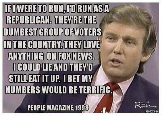 donald trump meme repubblicani stupidi