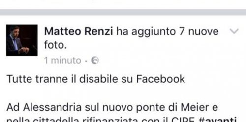 disabile matteo renzi facebook