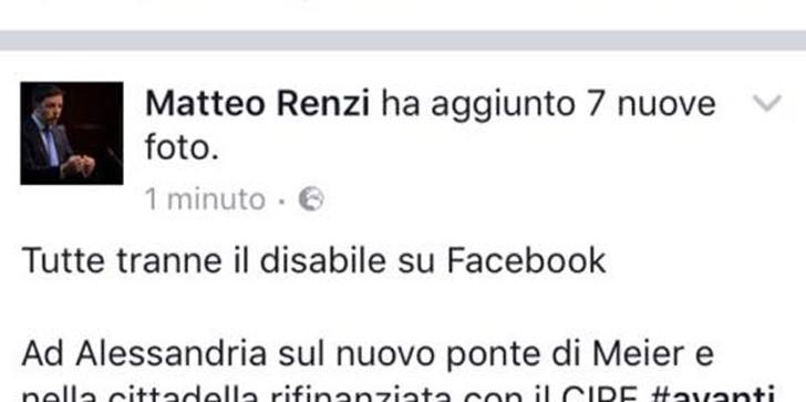 disabile matteo renzi facebook