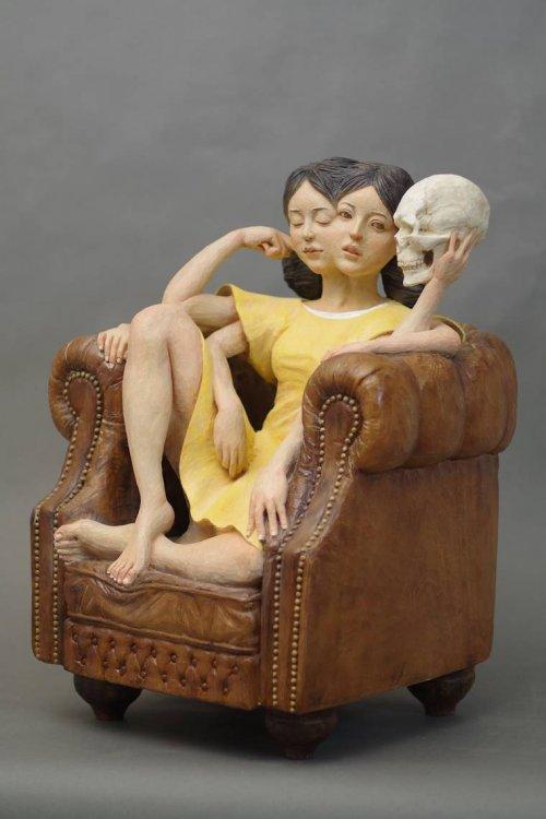 sculture teste yoshitoshi kanemaki