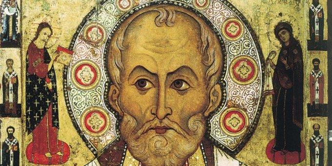 San Nicola in un'icona del XIII secolo