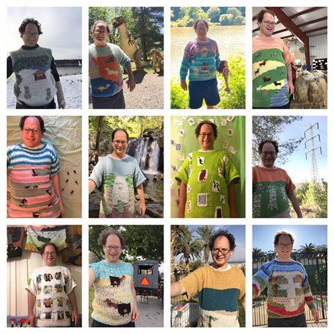 Tutti i maglioni creati da Sam nel 2016