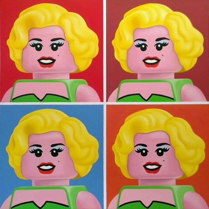 Quattro Marilyn, di Andy Warhol