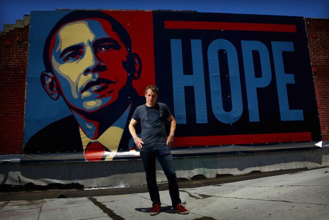 Shepard Fairey il noto manifesto per Barack Obama