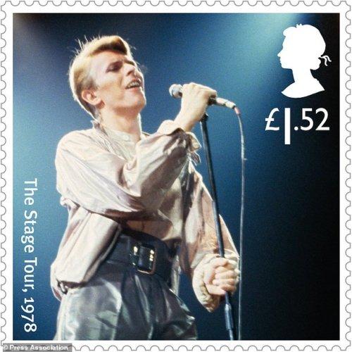 David Bowie, il francobollo dello Stage Tour, 1978