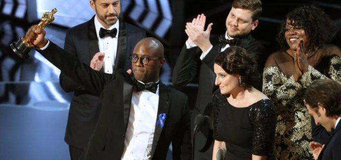 Il cast di Moonlight, vincitore del miglior film 2017