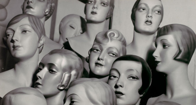 Arrangement of 12 Female Mannequin Heads, Each with Distinct Physiognomy and Period Hair Style. 1920s-30s. Peter Weller