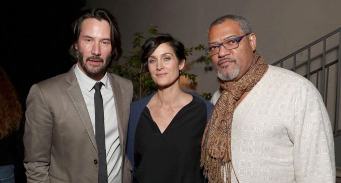 MATRIX: Keanu Reeves, Carrie-Ann Moss e Laurence Fishburne insieme nel 2017