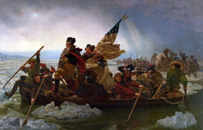 Washington Crossing the Delaware di Emanuel Leutze