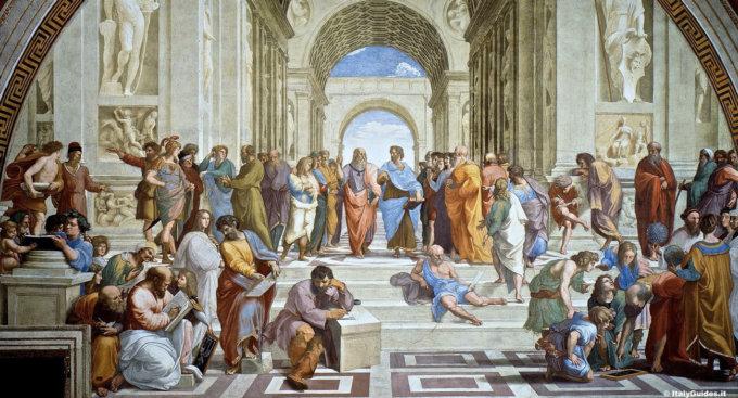 Musei vaticani: La Scuola di Atene di Raffaello,