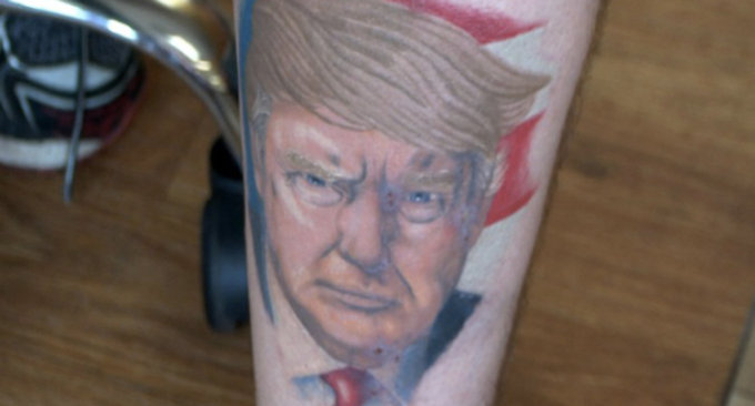 Il tatuaggio di Donald Trump, ed è pure uno dei più sobri