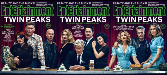 Le tre copertine di Entertainment Weekly