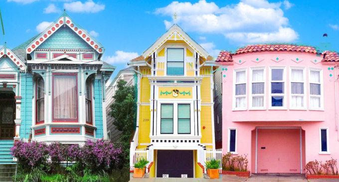 Alcune delle case colorate di San Francisco