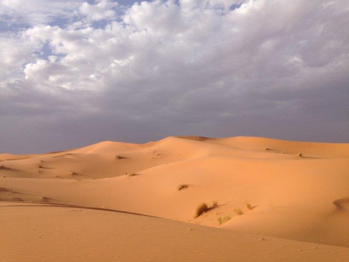 Le dune nei pressi di Merzouga.