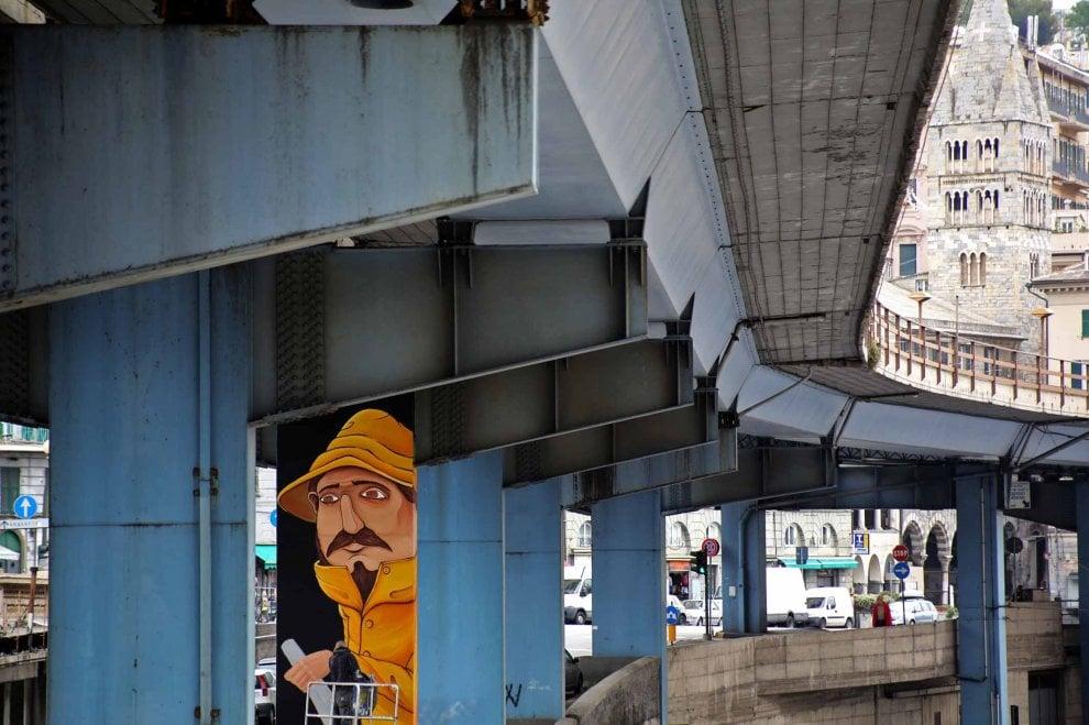 Il pilone di Seacreative (foto di Bussalino)
