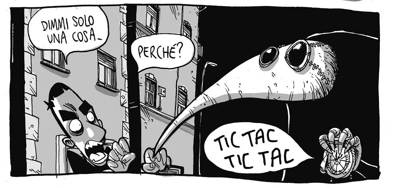"""Una vignetta di Zerocalcare tratta da """"La profezia dell'armadillo"""" (Bao Publishing)"""