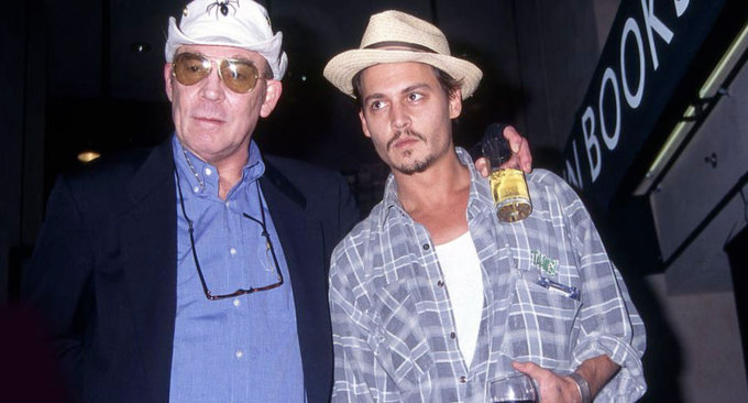 Hunter S. Thompson e Johnny Depp nel 1998