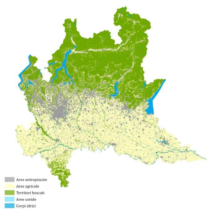 Lombardia 2015 – elaborazione CRCS su dati DUSAF – Destinazione d'Uso dei Suoli Agricoli e forestali (Regione Lombardia, ERSAF)