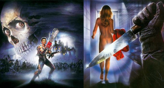 """""""L'armata delle tenebre"""" di Sam Raimi e """"Morirai a mezanotte"""" di John Old Jr., illustrati da Enzo Sciotti"""