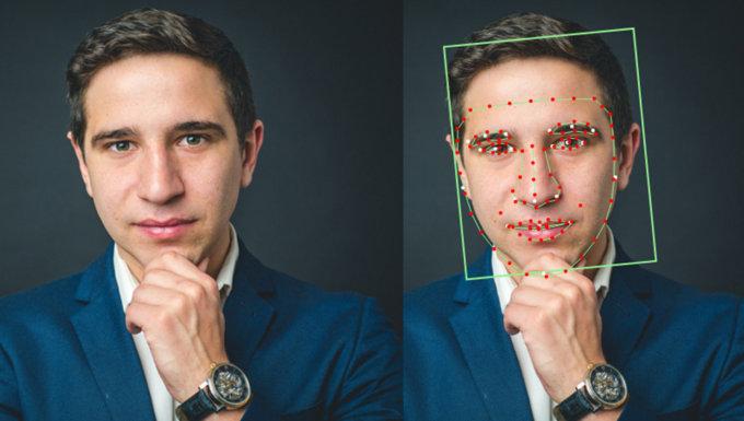 Una foto a caso analizzata dal software di riconoscimento facciale Betaface