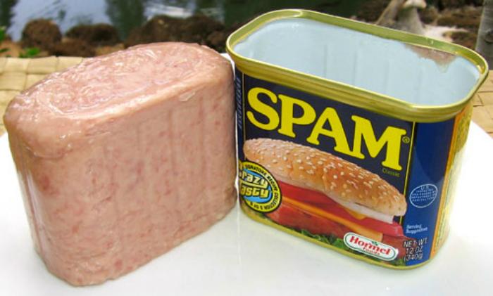 Lo spam, che in origine era una marca di carne macinata molto diffusa in Inghilterra, è stato portato alla ribalta da un celebre sketch dei Monty Python